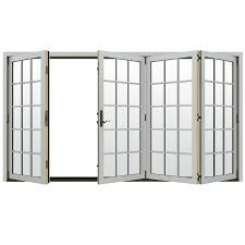 Jeld Wen French Patio Doors With Blinds Shop Jeld Wen W 4500 124 1875 In 15 Lite Glass Arctic Silver Wood