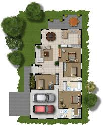 floor plans designs for homes homesfeed 2d home plan with car port front and back yards outdoor patio living room kitchen three