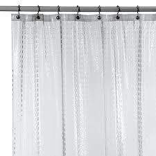 Clear Vinyl Shower Curtains Designs Metro Clear Vinyl Shower Curtain Bed Bath Beyond