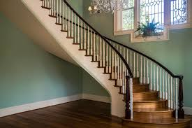 Curved Handrail Traditional Stairs And Railing Artistic Stairs