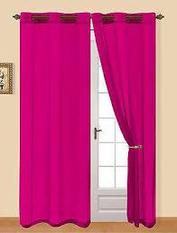 Magenta Curtain Panels Grommet Top Sheer Voile Curtain Panel 54