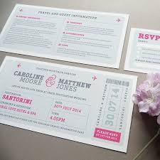 How To Make An Invitation Card Boarding Pass Wedding Invitations Plumegiant Com