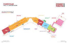 event floor plan comic fiesta 2014