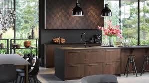 ikea black base kitchen cabinets brown kitchen cabinets sinarp series ikea