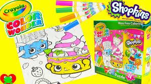 shopkins crayola mess free coloring puzzle with cheeky chocolate