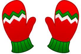 kids christmas mittens free clip art