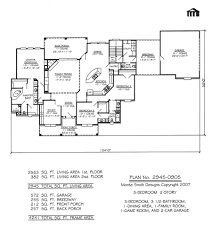 One Story 4 Bedroom House Plans by 1 Bedroom House Plans Pdf Bungalow In Nigeria Further Single Level
