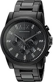 how to watch item on amazon black friday amazon com armani exchange men u0027s ax2104 black watch armani
