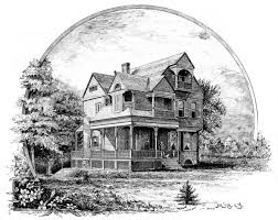 drawing home house images