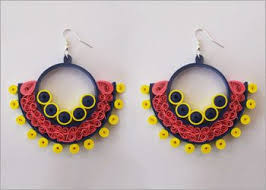 quiling earrings how to make beehive quilling paper earrings quilling made easy