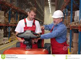 Forklift Mechanic Forklift Mechanic With Manual Stock Photo Image 42504490