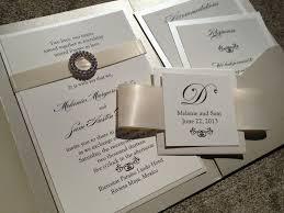 Wedding Invitations With Ribbon Wedding Invitations With Pockets Marialonghi Com