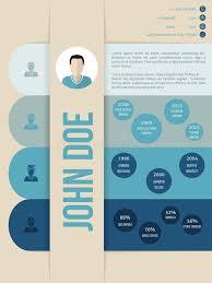 vita resume template modern cv curriculum vitae resume template in blue shades stock