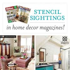 Home Decor Magazines Stencil Sightings In Home Decor Magazines Stencil Stories