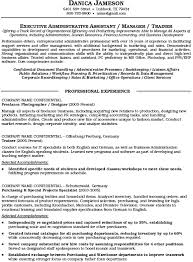 Executive Administrative Assistant Sample Resume Resume Example Executive Assistant Careerperfect With Free Sample