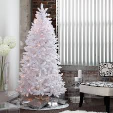 white tinsel pre lit tree by sterling tree