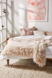 marisa tipped faux fur throw blanket outfitters
