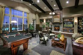 Rustic Interiors by Inspiring Recreation Room Ideas Along With Decor Design Ideas