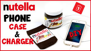 diy phone charger diy crafts nutella portable phone charger phone case easy