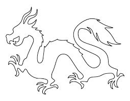 chinese dragon pattern printable outline crafts