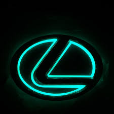 ebay motors lexus ct200h 5dled car logo auto badge emblems green light for lexus ls270