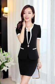2017 slim office ladies work womens clothing suits dress blue