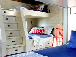 modern cool built in bunk beds for small rooms with steps stairs