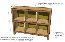 Pine Bookshelf Woodworking Plans by Ana White 6 Cube Bookshelf Diy Projects