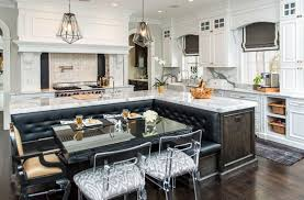 marble kitchen islands beautiful kitchen islands with bench seating designing idea