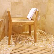Teak Bath Bench Shower Bench With Arms Nujits Com