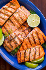 grilled salmon with garlic lime butter natashaskitchen com