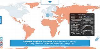 Map R R Activity Around The World R Bloggers