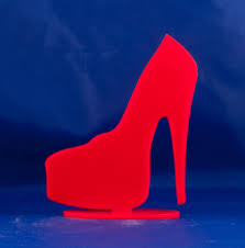 high cake topper high heel platform shoe table topper birthday cake topper