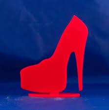 high heel platform shoe table topper birthday cake topper