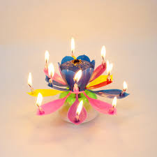 spinning birthday candle amazing musical lotus rotating happy birthday candle 14