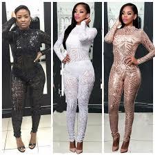 custom jumpsuits high end custom black white golden sequin jumpsuit 2016 fall