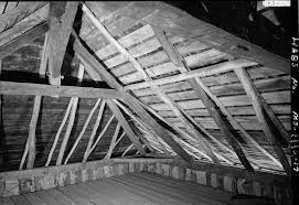 Frame A House by File Photograph Of The Roof Framing In The Bequet Ribault House In