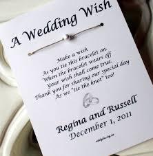 a wedding wish platinum rings a wedding wish wish bracelet wedding favor