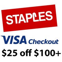 staples coupon black friday staples coupon code 25 off 100 or more with visa checkout
