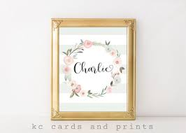 Baby Name Decor For Nursery 43 Best Nursery Name And Monogram Printables Images On Pinterest
