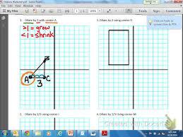 Geometry Dilations Worksheet Common Core Math Geometric Dilation Youtube