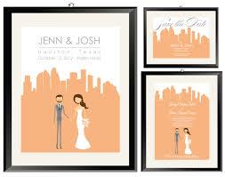 wedding invitations houston cityscape wedding invitations in the city city skyline