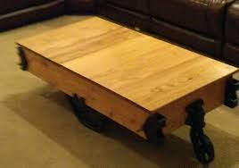 how to build a factory cart coffee table restore an old factory cart