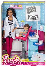 amazon com barbie dentist doll u0026 playset toys u0026 games