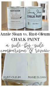 annie sloan chalk paint vs rust oleum chalked paint annie sloan