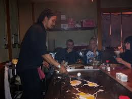 japanese restaurant cook at table a night out at akira s japanese restaurant the b side