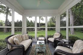 Glass For Sunroom Furniture Indoor Furniture For Sunrooms With Striped Upholstery