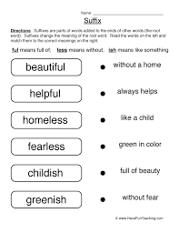 suffixes worksheets free worksheets library download and print
