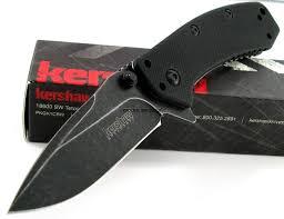 Kershaw Kitchen Knives Kershaw Cryo Hinderer Blackwashed G10 Handle Assisted Opening