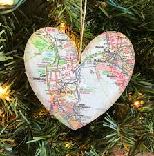san francisco ornament san francisco map ornament san